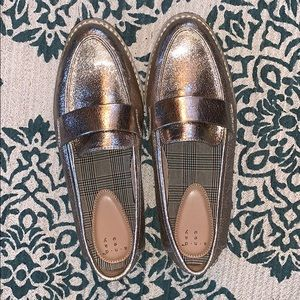 A New Day Gold Loafers